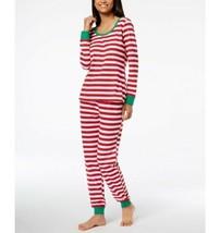 Family Pajamas Matching Women's Holiday Stripe Pajama Set (Red, XL) - $32.99