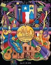 San Antonio Fiesta 2016 Poster 24 X 36 Inches Looks Beautiful - $19.94