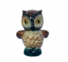 Owl figurine vtg sculpture Goebel Hummel Western Germany 1975 great horn... - $39.55