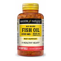 Mason Natural Fish Oil 1200 Milligrams No-Burp Softgels - 100 Count - $19.75