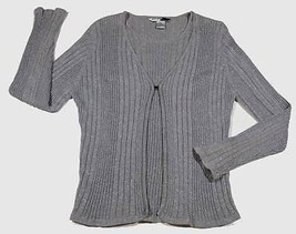 STUDIO JPR WOMENS SIZE LARGE SWEATER TOP ELEGANT SHIMMERY SILVER ONE PIECE - $12.61