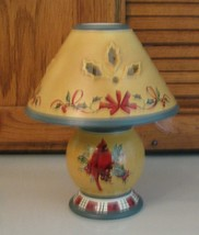 LENOX Tea Light Lamp Candle Holder Winter Greetings Christmas Cardinal - $18.80