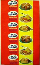 Vintage bread wrapper MALBIS dated 1955 sandwich pictures Mobile Alabama... - $9.99