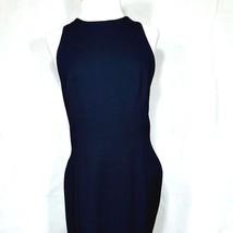 Ann Taylor Women's Black Dress Size 8 Long Crossed Back Sleeveless Slit ... - $295,21 MXN