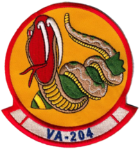US Navy VA-204 River Rattlers Patch & Sticker NEW!!! - $19.79