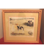 """June Kolarich Framed & Matted 16 1/2""""X18 1/2"""" Girl & Calf-Bucket-Brush-P... - $12.02"""