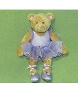 "14"" Gund Kids BALLERINA Teddy AMANDA Bear PURPLE TuTu Ballet Shoes Tan P... - $19.80"