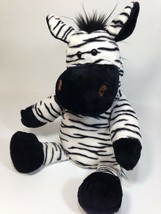 "Manhattan Toy ZEBRA Plush Hand Puppet Black White Soft Stuffed Animal 14""  - $56.05"