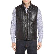 Stich Deatiling Men Leather Vest