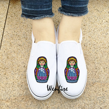 Wenfire Unisex Slip On Shoes Design Russia Doll Matryoshka 2 Colors Snea... - $45.00