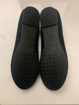New Cole Haan Women's Black Felt Slip-On Loafers 9.5 B Gold Tassels Shoes image 10