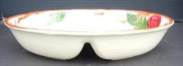 Vintage Franciscan Oval Divided Vegetable Dish- Apple Pattern - $34.19