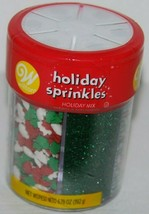 Wilton Holiday Mix Sprinkles 6 Cells Topping Red Green White Cakes Cookies NEW - $5.99