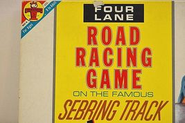Transogram Rare Four Lane Road Racing Game on the Famous Sebring Track 1963  image 3