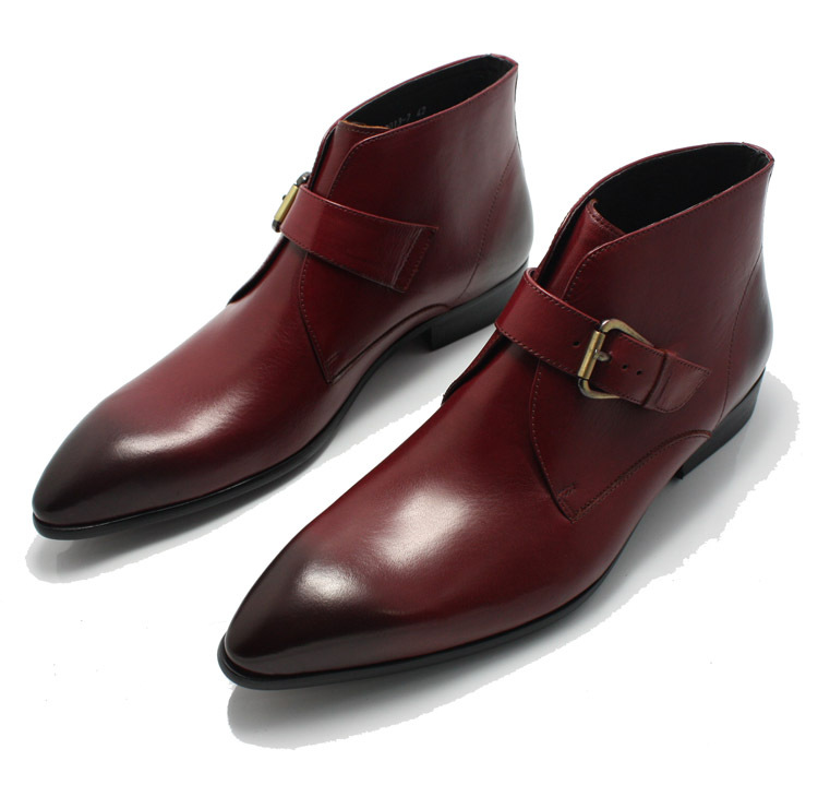 Customized Men's Handmade Oxblood Red Color Chukka Style ...