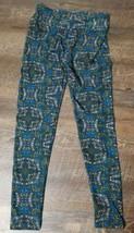 lularoe leggings one size blue, pink, green, yellow patterned - $4.99