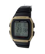 NEW Digital Casio Watch Gold Case 50M WR Alarm 10 Year Battery Resin Bnd... - $28.03