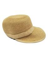 Riviera Women's Outdoor  travel Sun Visor Straw Hat One Size Ribbon Accent - $9.74