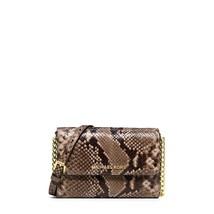 NEW! Michael Kors Large Saffiano Embossed Leather Phone Crossbody Bag Dark Khaki - $168.18