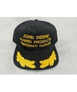 John Deere Snapback Hat Cap Black Power Products Preferred Supplier KC - $35.95