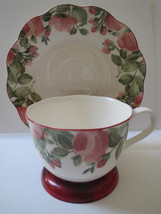 Nikko Tableware - Nikko Teacup And Saucer - Japan Precious Pattern - $17.00