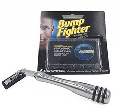 Heavyweight All-metal Bump Fighter Compatible Razor with Rubber Grips and 5 Bump