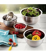 Stainless Steel Mixing Bowls with Lids Kitchen Bowl Set of 5 Food Prep S... - $36.49