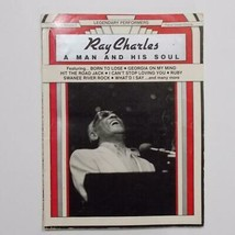 Ray Charles A Man And His Soul Sheet Music Song Book Piano Vocal 1986 - $29.69