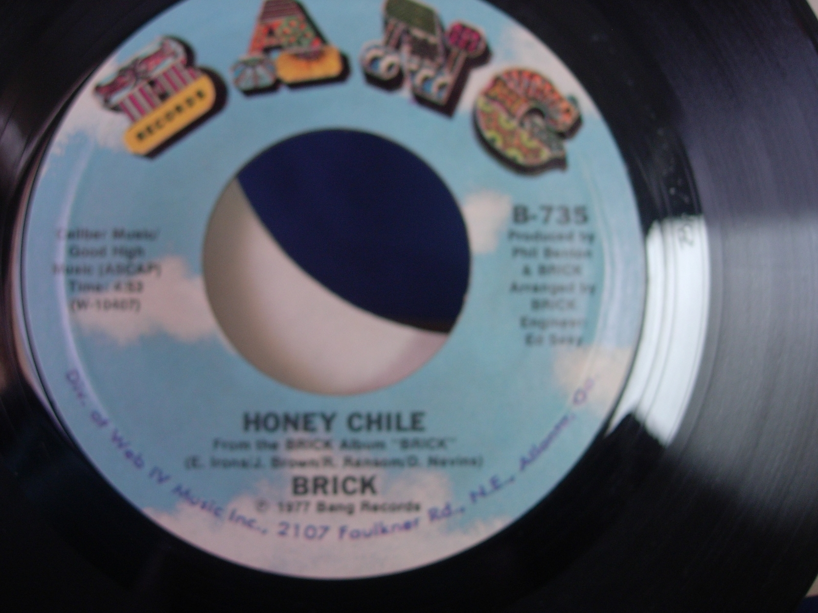 Brick - Ain't Gonna Hurt Nobody/Honey Chile -Bang Records B-735