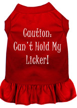 Can't Hold My Licker Screen Print Dress Red 4X (22) - $15.98