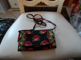 Vera Bradley strap wallet in retired Hens and Holly Christmas pattern NWOT - $42.50