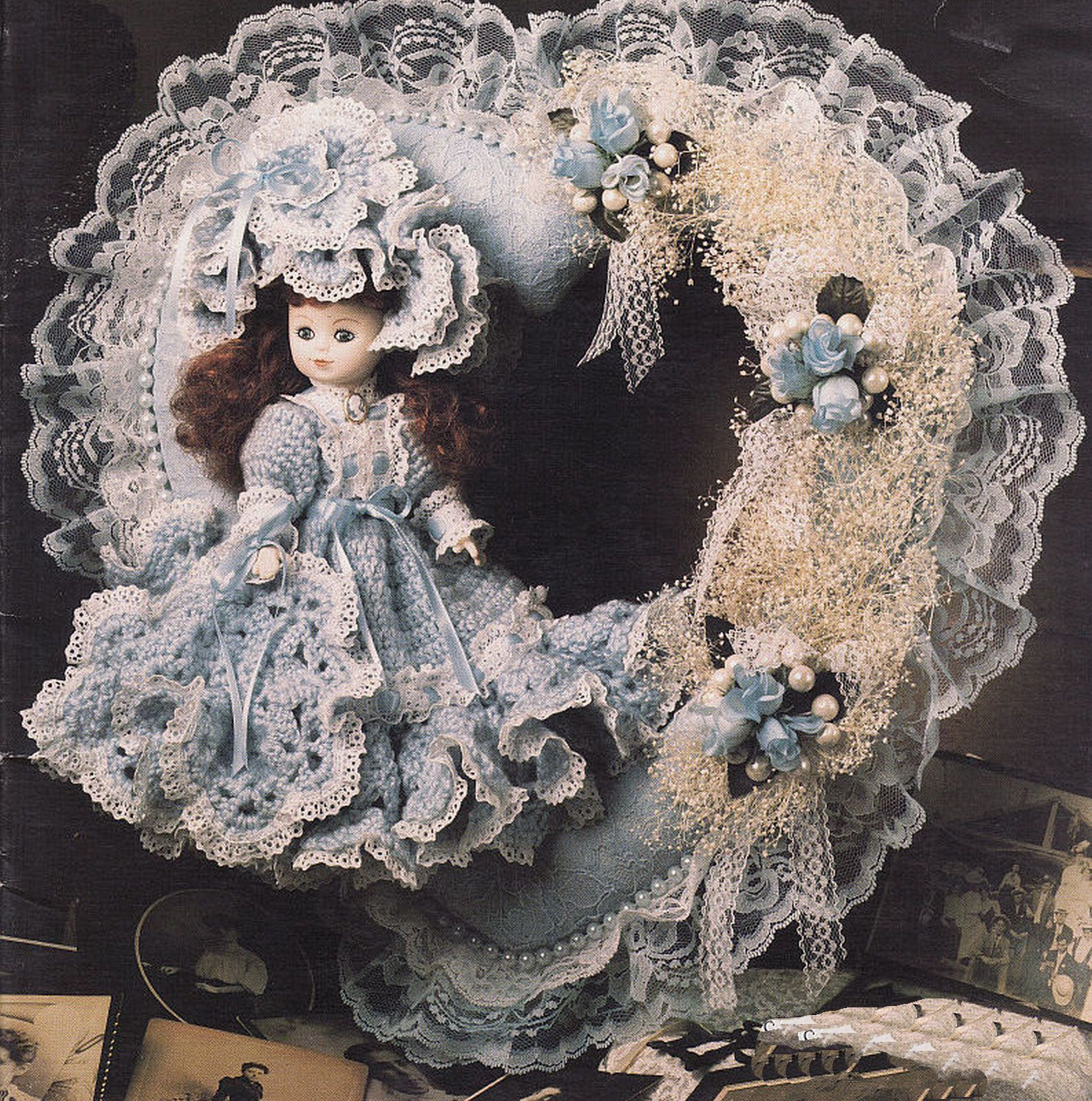 Primary image for 4 Crochet Victorian Sweetheart Doll Wreath Felicity Kendra Annie's Attic Pattern