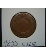 Coin in Folder from Collection Russia Empire Russia 3 Kopeks Kopeke 1893... - $8.48