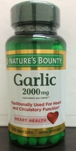 Natures Bounty Garlic 2,000 mg, 120 Coated Tablets Exp: 11-2022 - $11.87