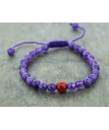 Unique Amethyst and Jasper Wrist Mala - $19.80