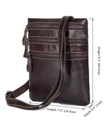 Sale, Vertical Messenger Bag, Vintage Leather Messenger Bag, Men Large M... - $80.00