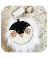 KATE SPADE NEW YORK PENGUIN FAUX FUR LEATHER CHARM KEY FOB IN BLACK - $29.58