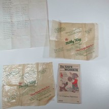 Pair ca 1935 Mars MILKY WAY Candy Wrappers Plus 1935 Safe Worker - $126.13