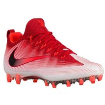 Nike Vapor Untouchable Pro White Red Mens Football Cleats Soccer 833385-601 - $41.54