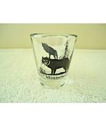 "Vintage Minnesota "" Timber Wolf "" Themed Shot Glass "" BEAUTIFUL COLLECTI... - $12.99"