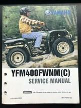 Used Yamaha Service Manual LIT-11616-13-22 YFM400FWNM(C) - $18.00