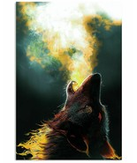 Wolf Howling Poster, Cool Multisize Wall Decor Art Print Gift For Wolf L... - $25.59+