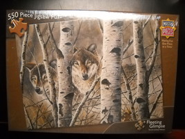 Masterpieces Jigsaw Puzzle Fleeting Glimpse David Wenzel Wild Wings Seal... - $11.99