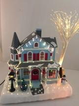 2001 Avon Holiday Splendor Lighted Fiber Optic House Christmas Display - $48.51