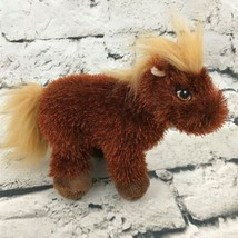 Ganz Lil' Kinz Horse Plush Brown Shaggy Standing Pony Stuffed Animal Sof... - $7.91
