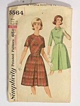 Simplicity Dress Sewing Pattern 38 Bust Sz 18 Fit and Flare Women Vtg Fr... - $9.49