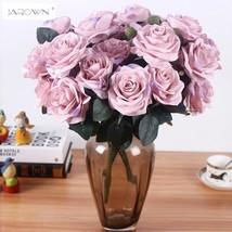 1 Bouquet Fake Rose Wedding Floral Decor Artificial Silk Flower Home Par... - $13.28+