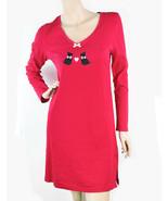 New XS Charter Club Cotton Scotties Sleepshirt Long Sleeve Women's Chemi... - $11.98