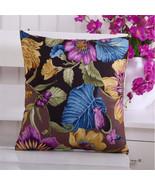 """18"""" European Vintage Flower Printed Pillow Case Car Sofa Seat Cushion Cover - $3.99"""