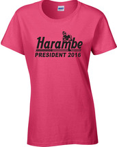 Harambe for President 2016 Write Him In JUNIOR FIT LADIES Tee Shirt 1500 - $7.88+